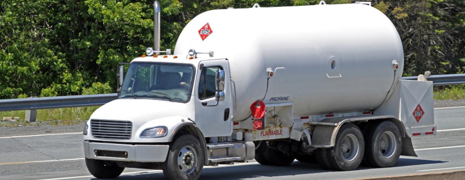 energy insurance - propane delivery truck